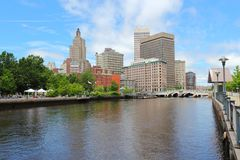 Providence skyline. Providence, Rhode Island. City skyline in New England region of the United States royalty free stock image