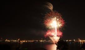 Providencia de los fuegos artificiales foto de archivo libre de regalías