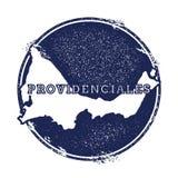 Providenciales-Vektorkarte Stockbild