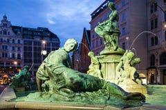 Providentia形象Donnerbrunnen喷泉维也纳 免版税库存照片