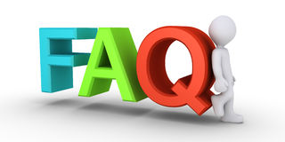 Providing the answers to FAQ Stock Images