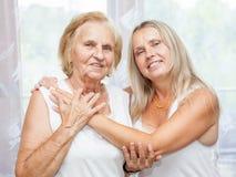 Providing care for elderly Stock Image