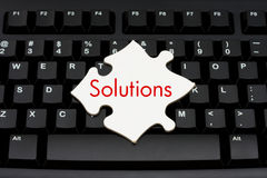 Providing computer and internet solutions Royalty Free Stock Photography