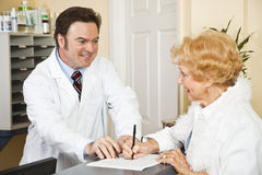 Providing Medical Insurance Info Stock Images