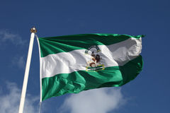 Flag of Andalusia, Spain Stock Photo