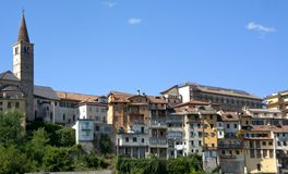 Landscapes of the city of Belluno Stock Photos