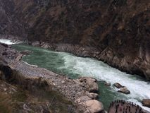 Province Chine de Tiger Leaping Gorge Shangri-La Yunnan photo stock