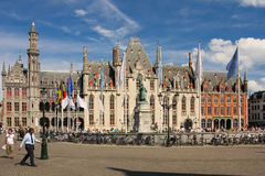 Province Court. Market square. Bruges. Belgium Royalty Free Stock Photos
