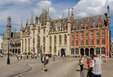 Province Court. Market square. Bruges. Belgium Stock Photography