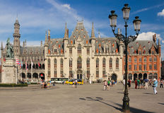 Province Court. Market square. Bruges. Belgium Royalty Free Stock Images