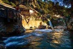 Province d'Alicante de fontaines d'Algar, Espagne Image stock