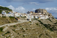 Province d'Ares del Maestrazgo de Valence, Espagne Images stock