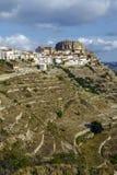 Province d'Ares del Maestrazgo de Valence, Espagne Photographie stock libre de droits