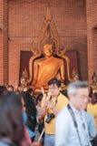 Province d'Ayutthaya, Thaïlande, le 29 novembre 2015 : beaucoup de personnes pour faire un mérite au temple Photographie stock