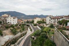 Province d'Oliena Nuoro de village, île Sardaigne, Italie photo stock