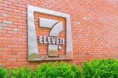 Province de Bangkok, Thaïlande - 9 mai 2016 : 7-Eleven logo - 7-El Images stock