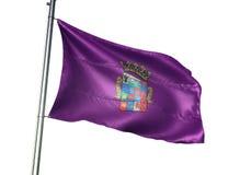 Province de Palencia de l'ondulation de drapeau de l'Espagne d'isolement sur l'illustration 3d réaliste de fond blanc illustration de vecteur