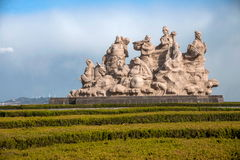 Province de Penglai, Shandong, base en plastique d'Immortals de Penglai huit Photos libres de droits