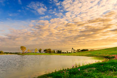 Le matin du lac Photo stock