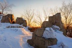 La neige restante Images libres de droits