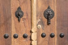 Province en bois Iran de Gilan de village de Masuleh de porte de maison rustique Photos stock