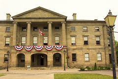 The Province House in Charlottetown in Prince Edward Island. In Canada Stock Photo