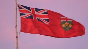 Flag of Ontario, Canada. Province of Ontario flag, Canada stock video footage