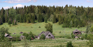Province of Russian wooden houses small town royalty free stock photo