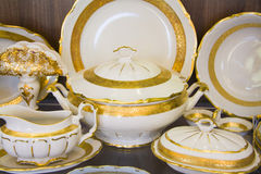 Province style tableware Royalty Free Stock Image
