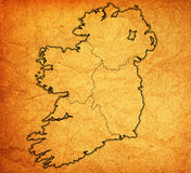 Provinces on map of ireland. Borders and territories of provinces on map of ireland Royalty Free Stock Photography