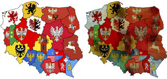 Provinces in poland Stock Photo