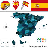 Provinces of Spain Royalty Free Stock Image