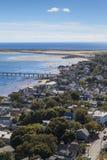 Provincetown, Μασαχουσέτη, άποψη βακαλάων ακρωτηρίων Στοκ Φωτογραφίες