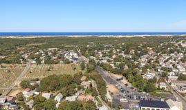 Provincetown, Μασαχουσέτη, άποψη βακαλάων ακρωτηρίων Στοκ Φωτογραφία