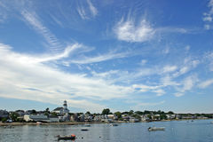 Provincetown. A veiw of Provincetown, Massachusetts from the harbor royalty free stock photo