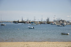 Provincetown Harbor. Harbor at Provincetown in Cape Cod Massachusetts stock photo