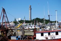 Provincetown, MA: Pilgrim Monument and Harbour Stock Photography