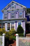 Provincetown, MA:  Simerset Inn Guest House. Provincetown, Massachusetts - September 6, 2009:  19th century Somerset Inn Guest House on Commercial Street Stock Photos
