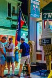 Provincetown Massachusetts August 2017 at the end of Cape Cod Provincetown has a large gay population of residents and tourists. Stock Photo