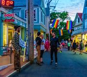 Provincetown Massachusetts August 2017 at the end of Cape Cod Provincetown has a large gay population of residents and. Provincetown Massachusetts USA August Royalty Free Stock Photos