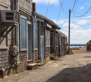 Provincetown, Massachusetts, Cape Cod beach shacks Royalty Free Stock Image