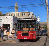 Provincetown, Massachusetts, Cape Cod trolly Royalty Free Stock Photography