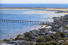 Provincetown, Massachusetts, opinión de Cape Cod Fotografía de archivo