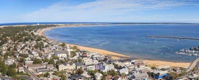 Provincetown, Massachusetts, opinión de la ciudad de Cape Cod Imagen de archivo