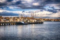Provincetown Massachusetts Sunset Macmillan Wharf Sunset Stock Photography