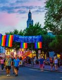 Provincetown Massachusetts August 2017 at the end of Cape Cod Provincetown has a large gay population of residents and. Provincetown Massachusetts USA August Stock Photos