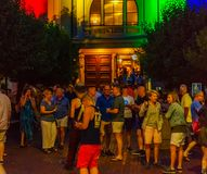 Provincetown Massachusetts August 2017 at the end of Cape Cod Provincetown has a large gay population of residents and. Provincetown Massachusetts USA August Stock Image