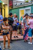 Provincetown Massachusetts August 2017 at the end of Cape Cod Provincetown has a large gay population of residents and tourists. Royalty Free Stock Photos