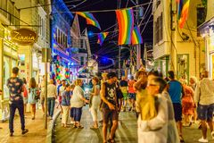 Provincetown Massachusetts August 2017 at the end of Cape Cod Provincetown has a large gay population of residents and tourists. Stock Photography