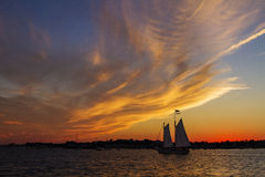 Provincetown sunset Stock Photography